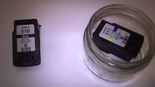 видео как промыть картридж струйного принтера canon