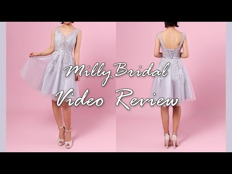 homecoming-dresses-|-popular-a-line-v-neck-tulle-lace-short-prom-dress---millybridal-video-review