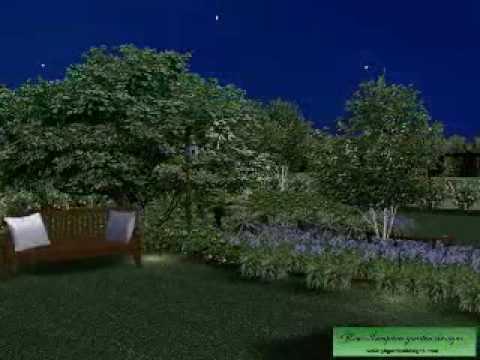 CAD 3D-Lower Garden Design-Night