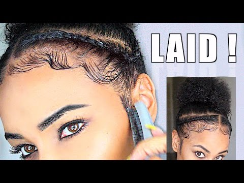 How To Slay Lay Your Edges Baby Hair Natural Hair Tutorial