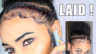 How To Slay & Lay Your Edges - Baby Hair Natural Hair Tutorial!