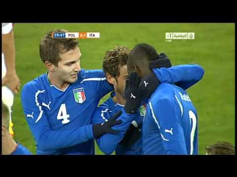 Poland 0-1 Italy  Balotelli Great Goal