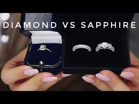 Diamonds vs White Sapphires Comparison