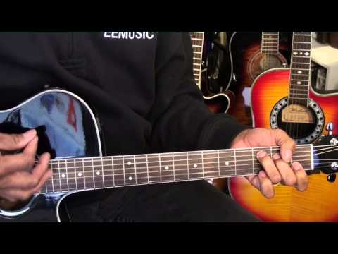 How To Play Elvis Presley Hound Dog Easy On Guitar Lesson Tutorial C EricBlackmonMusicHD