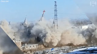 Officials demolish Golden Lampstand Church in Shanxi, China