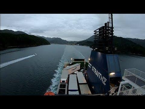 Into The Night - Picton To Wellington Car Ferry Go Pro Timewarp