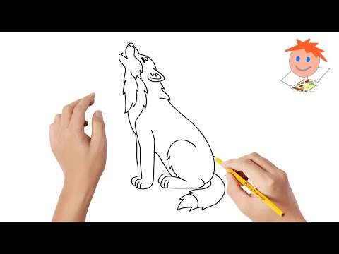 How To Draw A Wolf Easy Step By Step | Drawing For Kids 💖