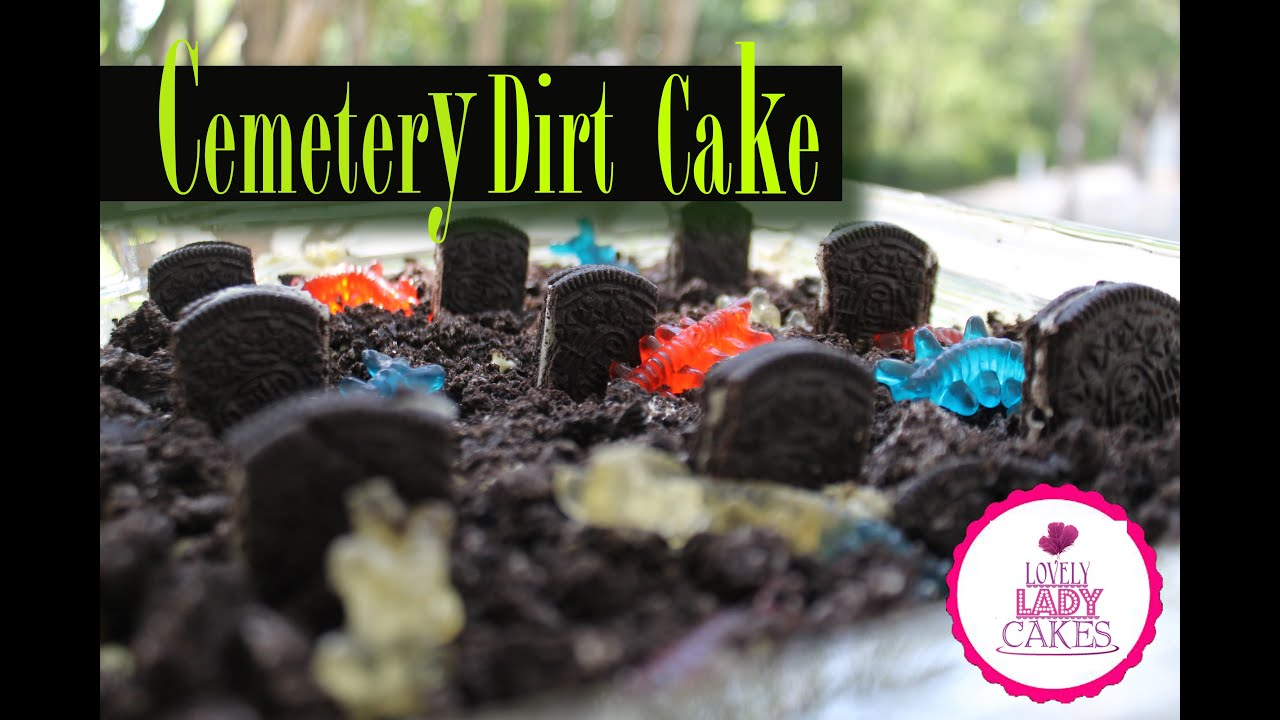 Cemetery Dirt Cake Halloween Collab - YouTube