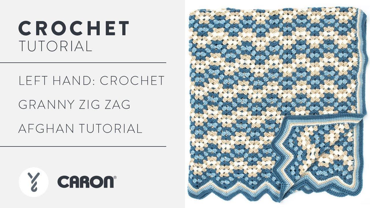 Left Hand: Crochet Granny Zig Zag Afghan Tutorial - YouTube