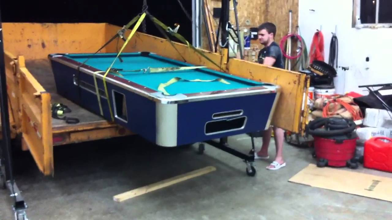 How NOT To Move A Pool Table YouTube - How do you take apart a pool table
