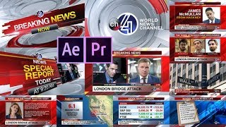 4ch Breaking News Mega Pack (After Effects project) ★ AE Templates ★ 2018