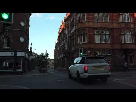 Driving On Foregate Street, Pierpoint Street, Sansome Walk & City Walls Road, Worcester UK