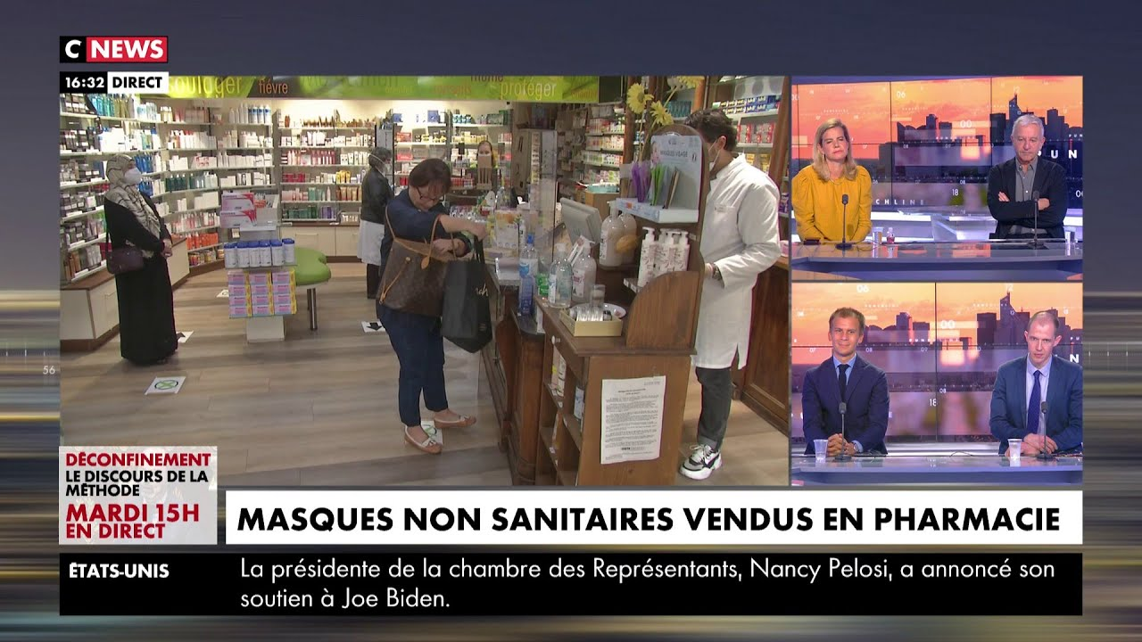 Coronavirus : les masques non sanitaires désormais vendus en pharmacie