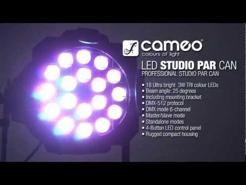 Cameo Light 18 x 3 W TRI Colour LED Studio PAR Can 64 RGB