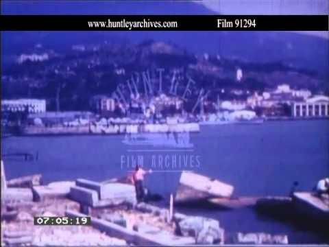 Yalta In The Crimea In The 1960's.  Archive Film 91294