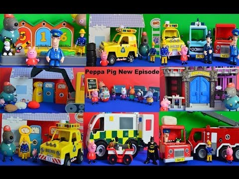 10 NEW Peppa pig fireman sam full episodes Compilation Play-doh Thomas and friends Toys