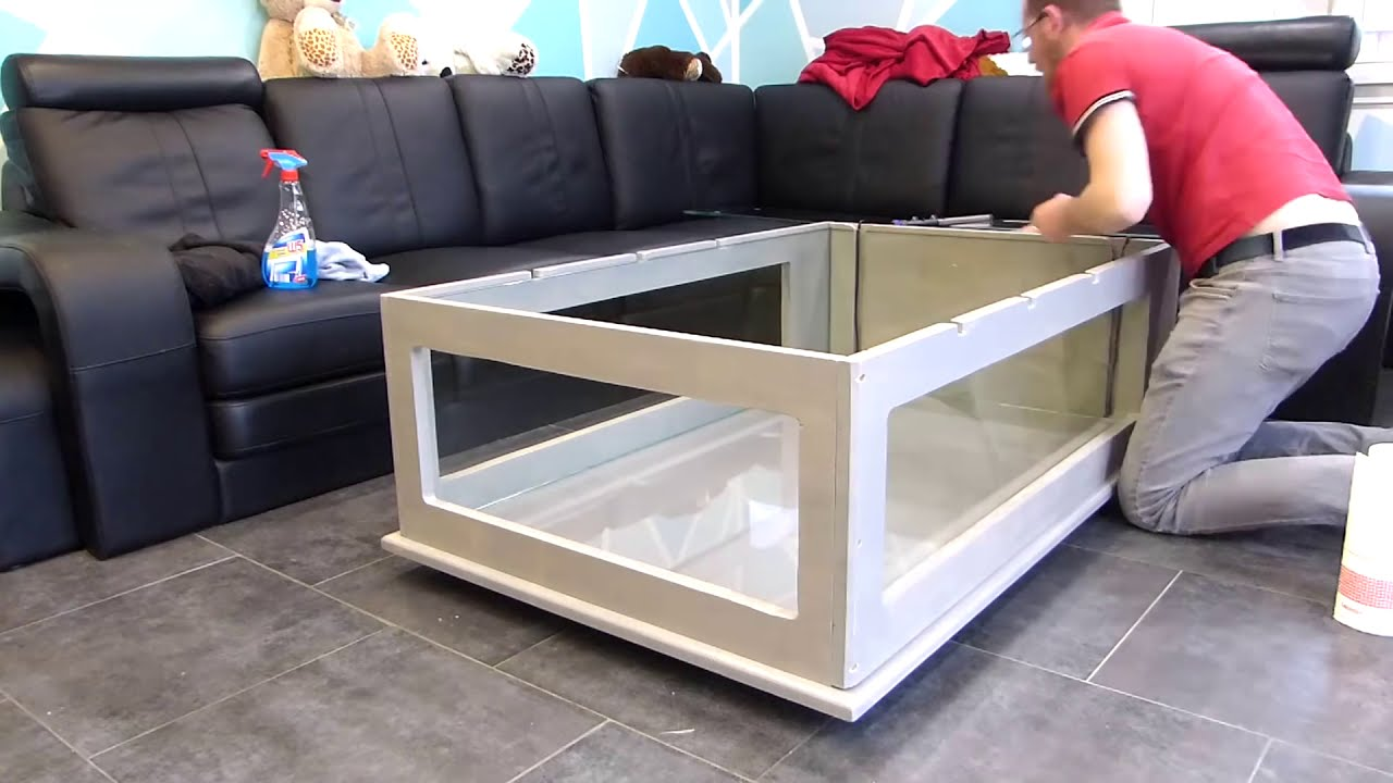 building an awesome aquarium coffee table