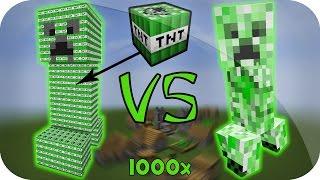 CREEPER TITAN VS CREEPER GIGANTE DE TNT ¿Quién Explosión Más? MINECRAFT