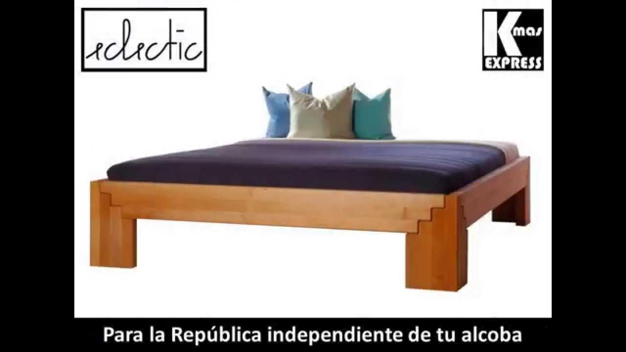 Cama doble matrimonial en madera importada de dise o - Hacer una cama de madera ...