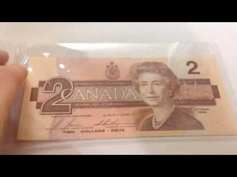 1986 Canada Two Dollar Bill