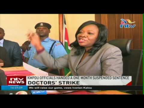 KMPDU officials handed a one month suspended sentence