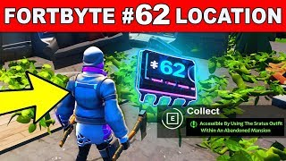 Accessible By Using The STRATUS Outfit Within An Abandoned Mansion - FORTNITE FORTBYTE #62 LOCATION