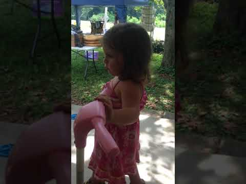 Clover Dancing at Yard sale then gets in trouble