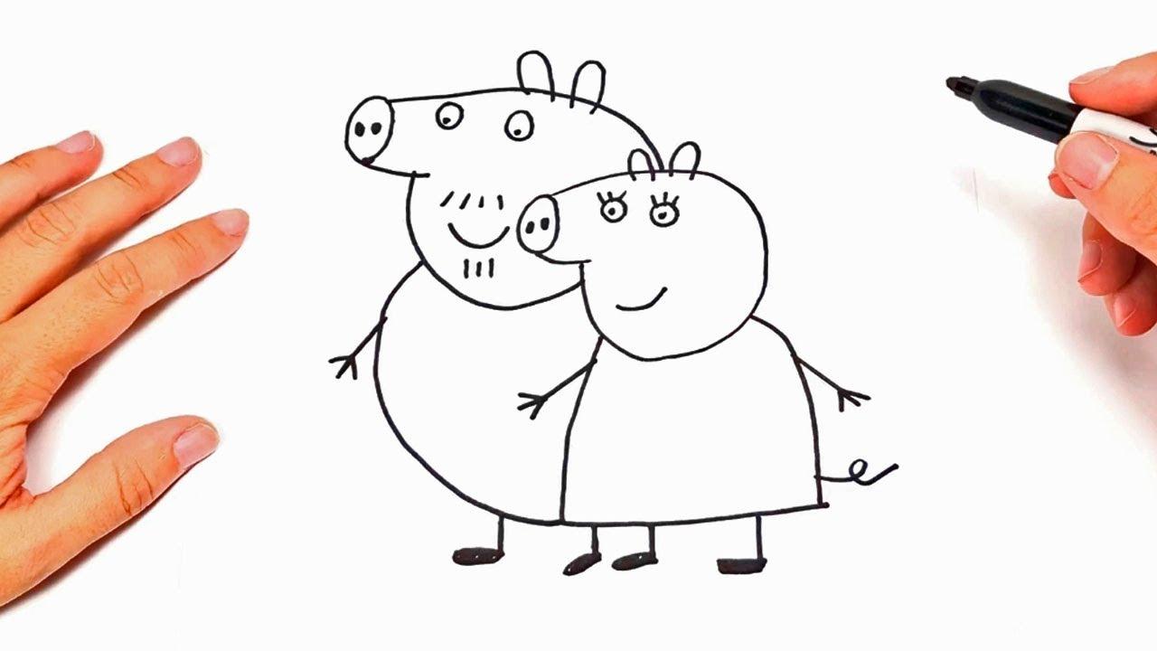 Como Dibujar A Mama Y Papa De Peppa Pig Dibujos Para Niños