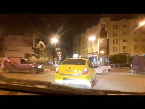 A drive in Sfax by night