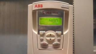 Частотники ABB ACS550 - Запуск з панелі управління