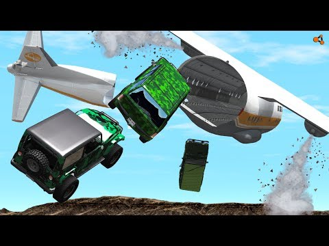 Beamng Drive - Aircraft Crashes #5, Antonov AN-12B (plane crashes)