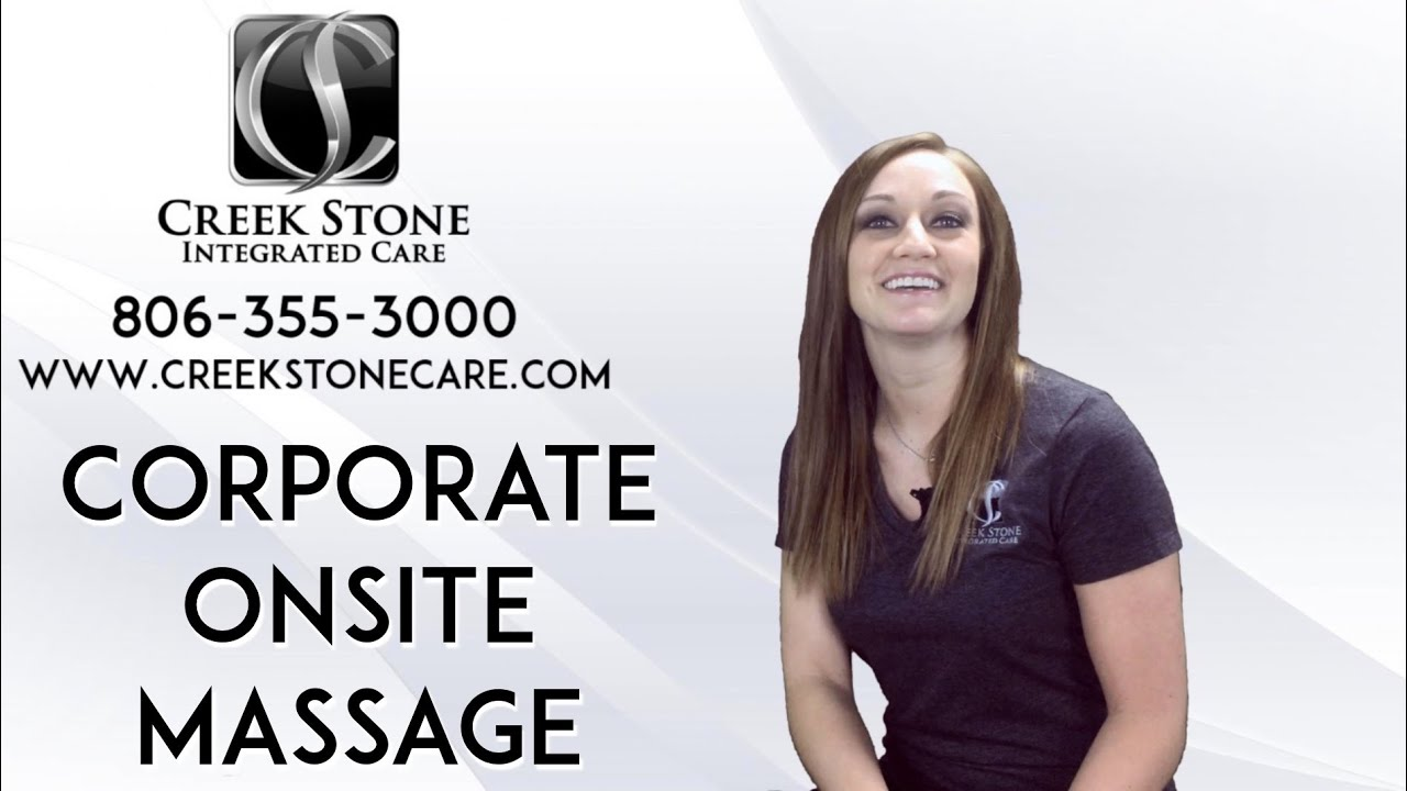 Corporate site onsite Chair Massage in Amarillo Massage Creek