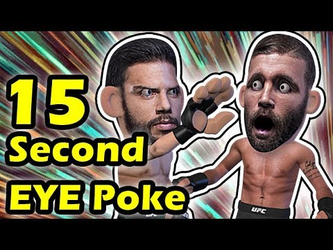 15 Seconds Eye Poke Ends The Fight Between Yair Rodriguez Jeremy Stephens
