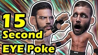 15 SECONDS EYE POKE Ends the fight between Yair Rodriguez & Jeremy Stephens