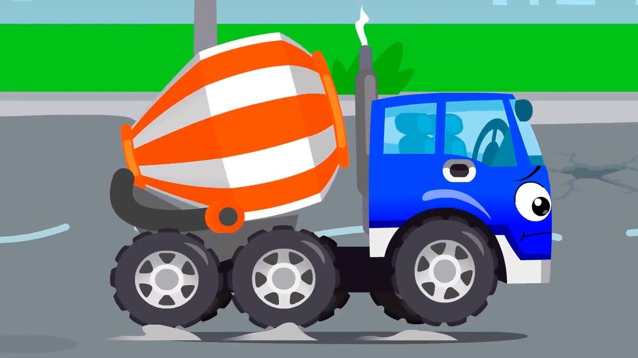 Beton Mikseri Kocaman Bir Çukura Düşüyor - Cars Stories - Çocuklar için Çizgi Film