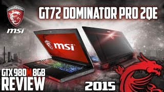 MSI Dominator Pro GT72-2QE   Extreme Gaming Laptop   GTX 980M 8Gb V-Ram