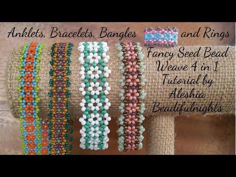 Fancy Seed Bead Weave 4 in 1 Tutorial