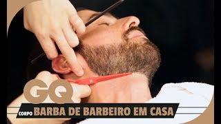 Rosto pescoço correta e barbear de maneira