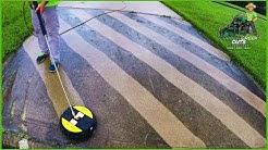 Pressure Washing The Neighbor's Dirty Driveway - Satisfying!