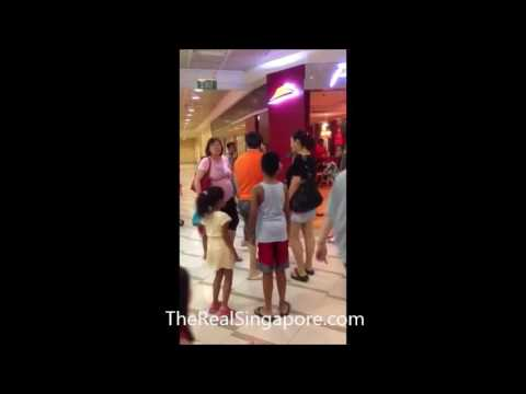 Crazy Singapore -Fight at Compass Point Shopping Mall