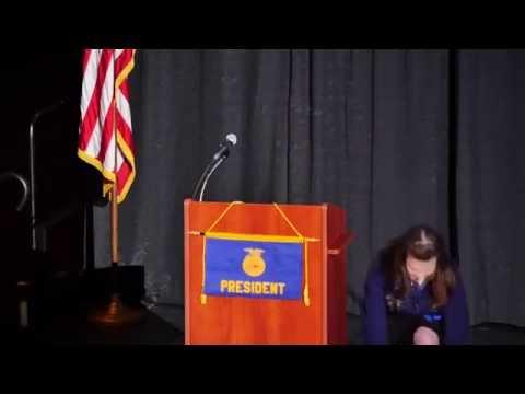 2014-2015 Nevada FFA State Secretary Jason Wurtz Retiring Address