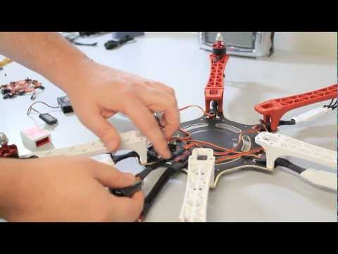 DJI F550 FLAMEWHEEL NAZA HEXACOPTER  ARF  STEP BY STEP  COMPLETE BUILD