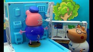 Свинка Пеппа. Дедушка Свин играет с Пеппой в прятки. Дедушке Свину становиться плохо
