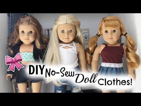 DIY No-Sew American Girl Clothes!