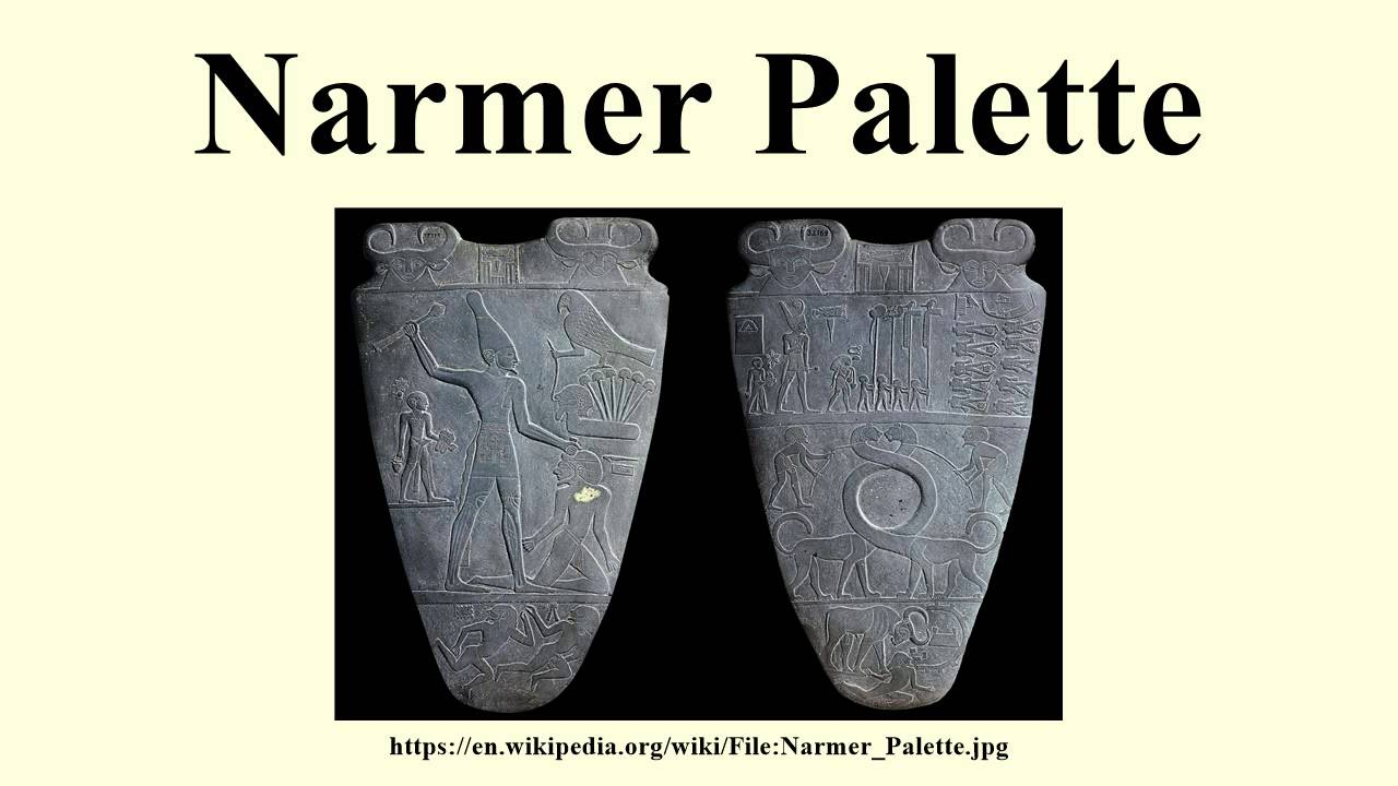 the palette of narmer Description of the obverse side of the narmer palette: narmer, king of the north.