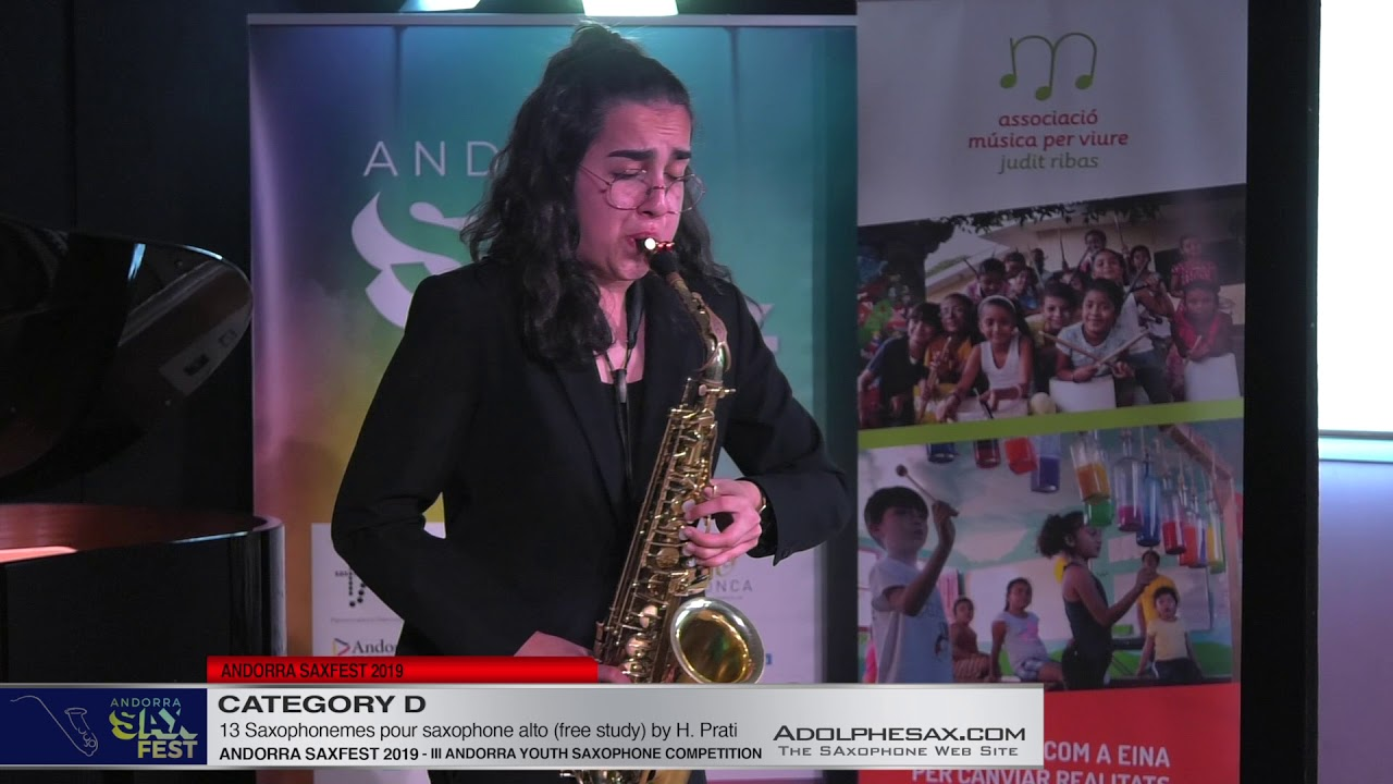 Andorra saxfest 2019 - Youth Competition - Iola Thakur - 13 Saxophonemes for Alto Sax