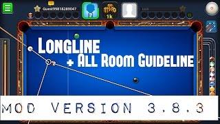 8 Ball Pool 3.8.3 Mod | Longline + All Room Guideline|