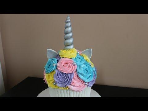 Giant Unicorn Rainbow Cupcake Smash Cake