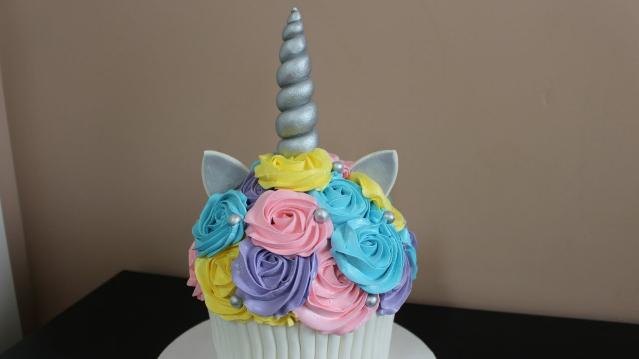 Giant Unicorn Rainbow Cupcake Smash Cake