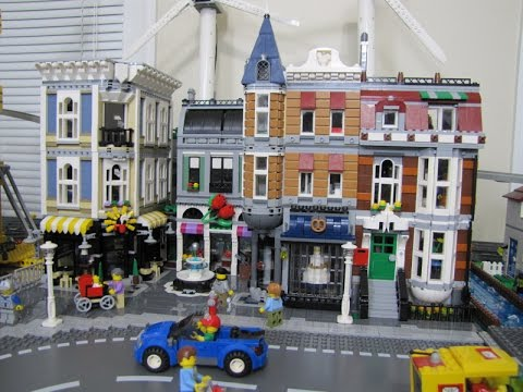 LEGO Assembly Square speed build and city placement - YouTube